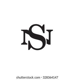 letter N and S monogram logo