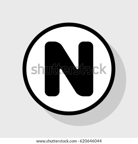 letter n sign design template element stock vector royalty free