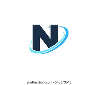 Connect Line Letter N Logo Design Stock Vector Royalty Free