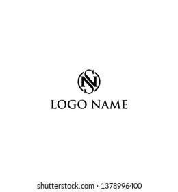 letter Nan S initial logo design inspiration / hotel logo