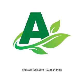 Letter A Nature Logo Template Design Vector, Emblem, Design Concept, Creative Symbol, Icon