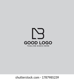 Letter NB desing logo for business whatever you want