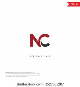 Letter NC, CN modern Logo icon monogram design. Vector graphic design template element.