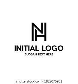 Letter NH Monogram Modern Business Creative Logo