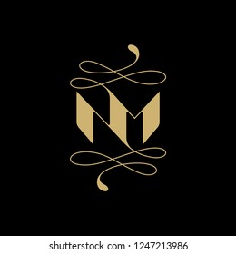 Letter NM Logo Template