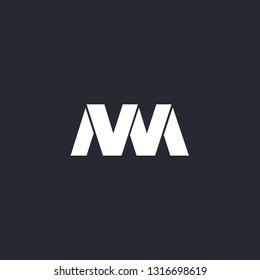Letter NM logo template vector