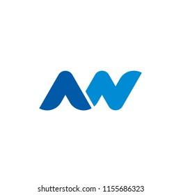 Letter NN, MN, AN logo design vector