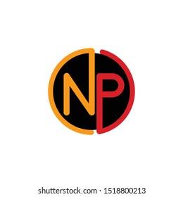 Letter NP Circle Creative Simple Modern Logo