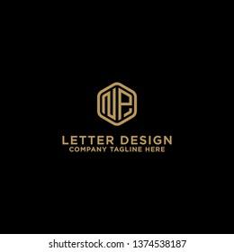 Letter NP Initial icon / Monogram.- Vector inspiration logo design - Vector