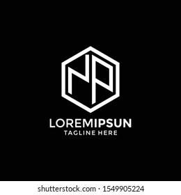 Letter Np logo,monogram logo design template.