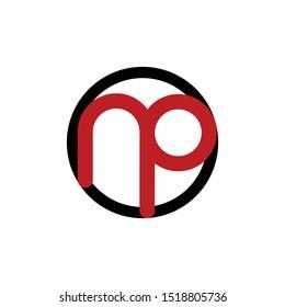 Letter NP Minimalist Modern Creative Logo