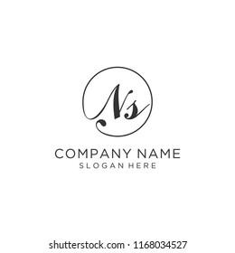 Letter NS logo design