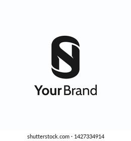 Letter NS logo mark typography