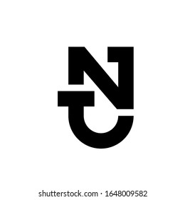 letter NT logo design simple modern