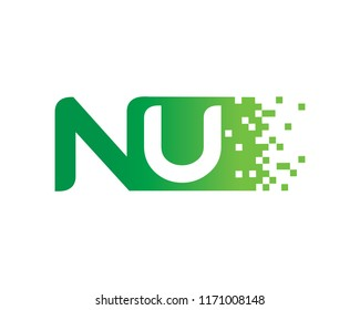 Letter NU Logo Template Design Vector, Emblem, Concept Design, Creative Symbol, Icon