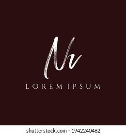Letter NV luxury logo design vector