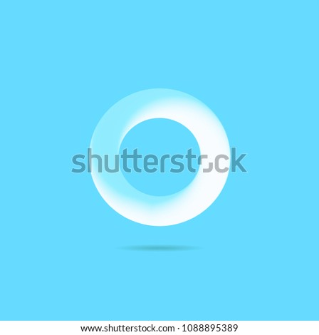 Letter O 3 D Bubble Text Logo Stock Vector Royalty Free 1088895389