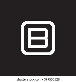 letter O and B monogram square shape logo, letter B with rounded square frame logo black