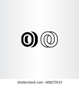 letter o black icon logo elements symbol