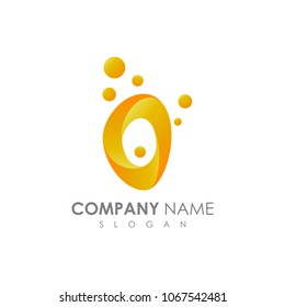 Letter O With Bubble, Initial Letter Logo For Your Company Name, Alphabet Logo Template Ready For Use, Modern Initial Logo