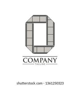 Letter o filmstrip logo