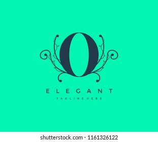 Letter O Floral Monogram Premium Elegant Logo Design