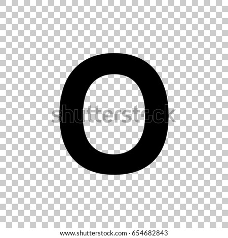Letter O Isolated On Transparent Background Stock Vector Royalty