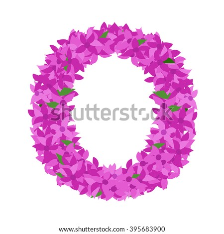 letter o lilac flower letter o stock vector royalty free 395683900