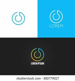 letter O logo alphabet design icon set background