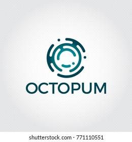 Letter O logo design template,Technology abstract dot connection vector logo icon circle logotype