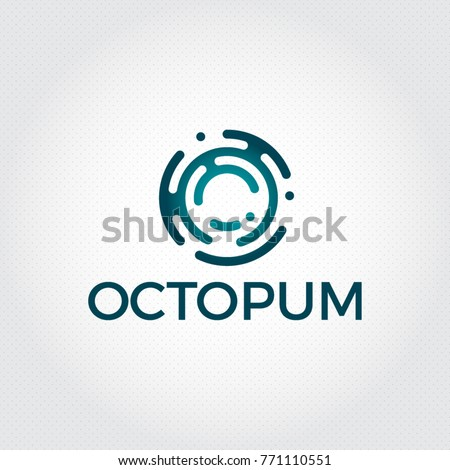 letter o logo design templatetechnology abstract dot connection vector logo icon circle logotype