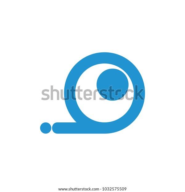 Letter O Motion Eye Symbol Logo Stock Vector (Royalty Free