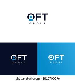 letter o people wordmarklogo design, creative modern logo concept