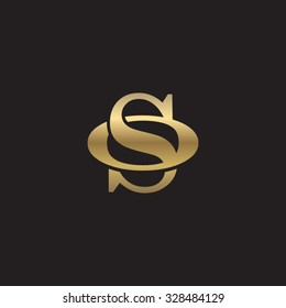 letter O and S monogram golden logo