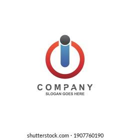 Letter i and o for technology logo