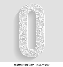 Letter O. Vector Floral Invitation cards Decorative Font