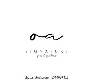 Letter OA Signature Logo Template - Vector