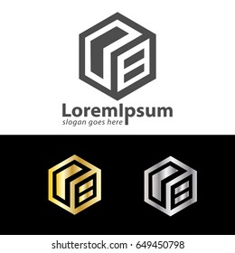 letter OB box design logo