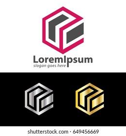letter OC box design logo