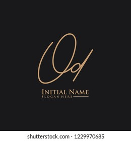 Letter Od Logo. Initial Letter Design Vector Luxury Colors