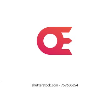 letter OE logo. creative apps template logo vector illustration