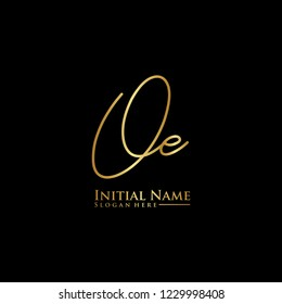 Letter Oe Logo. Initial Letter Design Vector Luxury Colors