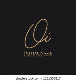 Letter Oi Logo. Initial Letter Design Vector Luxury Colors