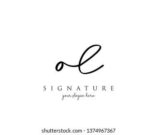 Letter OL Signature Logo Template - Vector