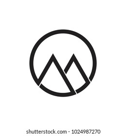 letter om line art linked logo