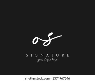 Letter OS Signature Logo Template - Vector