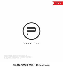 Letter P abstract Logo icon monogram design. Vector graphic design template element.