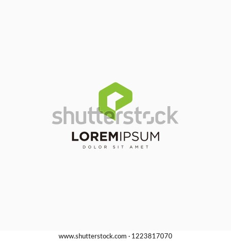 letter p with arrow logo vector financial payment logo template payout icon vector