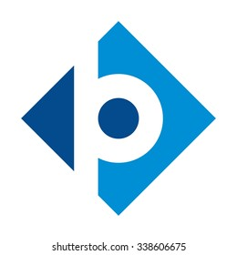 letter p and b logotype. logo vector.