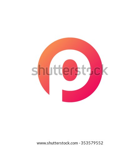 Letter P Circle Shape Icon Logo Stock Vector Royalty Free